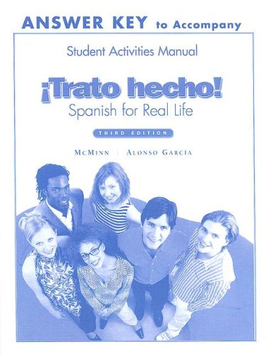 9780131914162: Trato Hecho Answer Key To Accompany Student Activities Manual: Spanish For Real Life