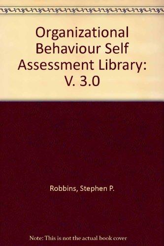 9780131914360: Organizational Behaviour Self Assessment Library: V. 3.0