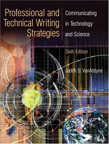 9780131915206: Professional and Technical Writing Strategies: Communicating in Technology and Science (6th Edition)