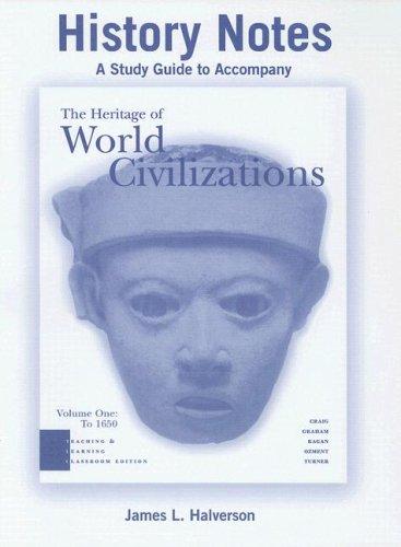 9780131915756: History Notes, Volume I