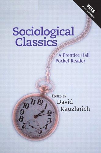 9780131918061: Sociological Classics: A Prentice Hall Pocket Reader