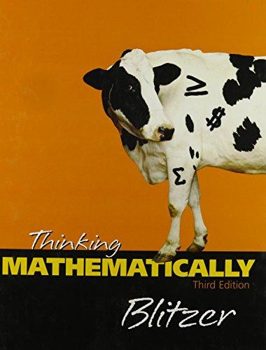 9780131920118: Thinking Mathematically