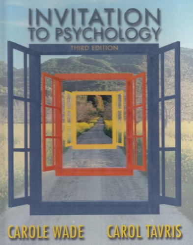 9780131920200: Invitation to Psychology