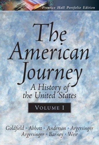 9780131920989: The American Journey Portfolio Edition, Vol. I