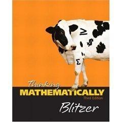 9780131921252: Thinking Mathematically