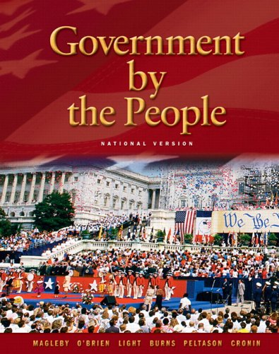 9780131921597: Government By the People - National Version (21st Edition)