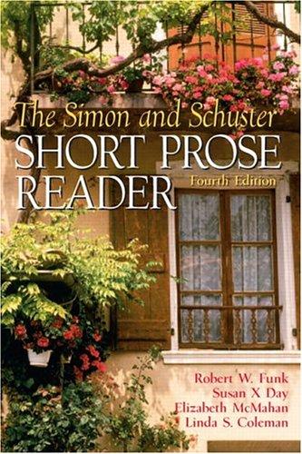 9780131925892: The Simon and Schuster Short Prose Reader