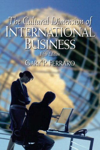 9780131927674: The Cultural Dimension of International Business