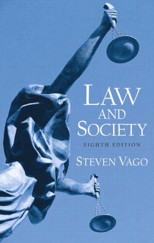 9780131928442: Law and Society (8th Edition)