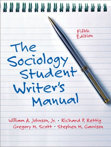 9780131928510: Sociology Student Writer's Manual, The (5th Edition)
