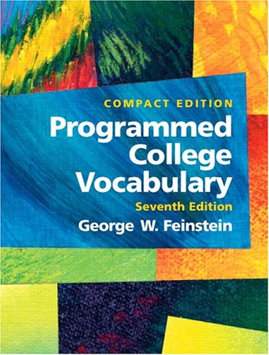 9780131928718: Programmed College Vocabulary: Compact Edition (7th Edition)