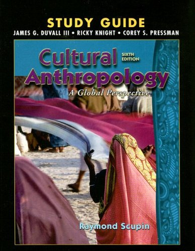 9780131928862: Cultural Anthropology Study Guide: A Global Perspective
