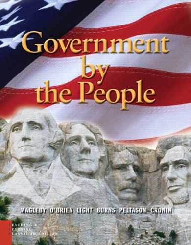 Government by the People, Teaching and Learning,: David B. Magleby,
