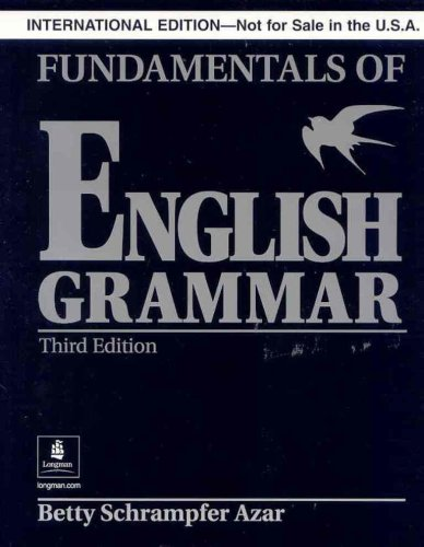9780131930193: Fundamentals of English Grammar: Without Answer Key (Black), International Version (Azar English Grammar)