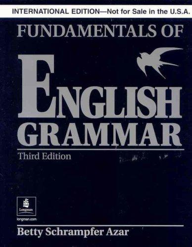 9780131930193: Fundamentals of English Grammar without Answer Key (Black), International Version, Azar Series (3rd Edition)