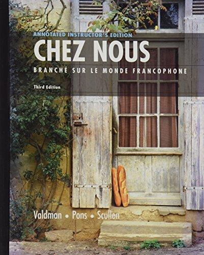 9780131930766: Chez Nous: Branche Sur Le Monde Francophone (Third Edition)