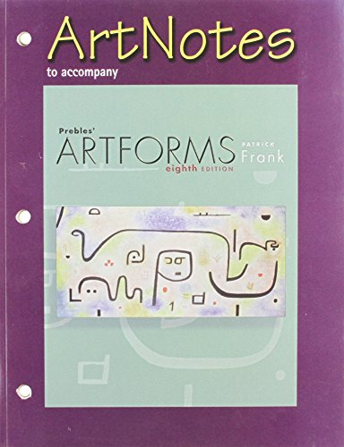 9780131930896: ArtNotes to accompany Prebles' Artforms, 8th edition