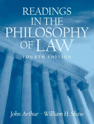 Readings in the Philosophy of Law (0131931512) by John Arthur