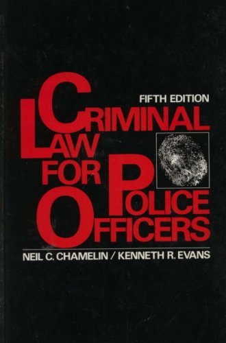 9780131933842: Criminal Law for Police Officers