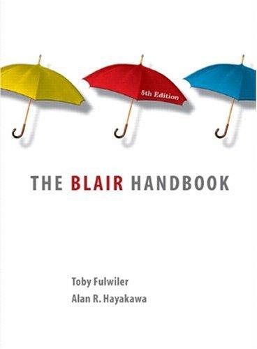 9780131934153: Blair Handbook, The (casebound) (5th Edition)