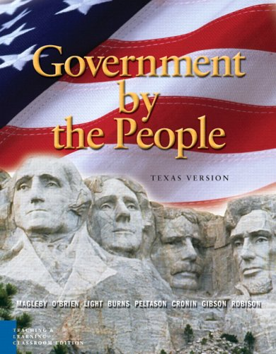 9780131934290: Government by the People: Texas Teaching and Learning, Classroom Edition (6th Edition)