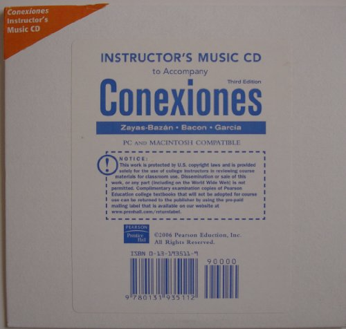 9780131935112: Instructor's Music CD (Conexiones) Third Edition