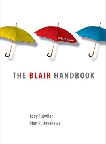 9780131935365: The Blair Handbook