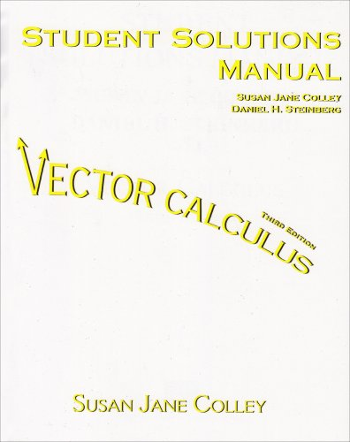 9780131936270: Vector Calculus Student Solutions Manual