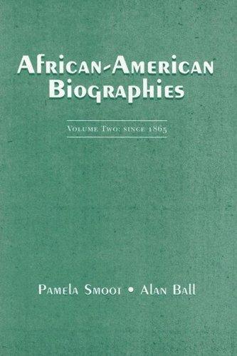 9780131937949: African-American Biographies: Volume II: Since 1865: 2