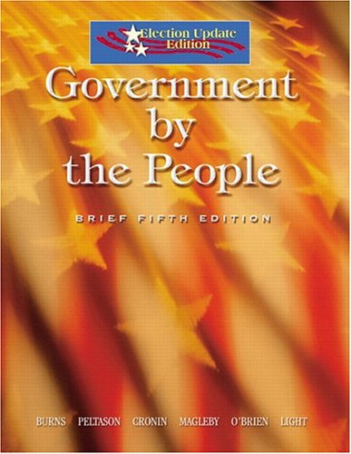 9780131939066: Government by the People, Brief Election Update (5th Edition)