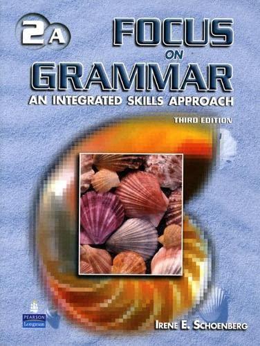 Focus on Grammar: Student Book Split v.: Irene E. Schoenberg