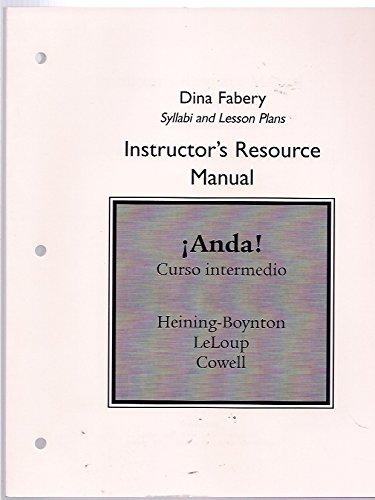 9780131944886: Dina Fabery Syllabi and Lesson Plans Instructor's Resource Manual Anda! Curso Intermedio