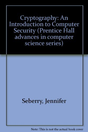 9780131949867: Cryptography: An Introduction to Computer Security (Prentice Hall advances in computer science series)