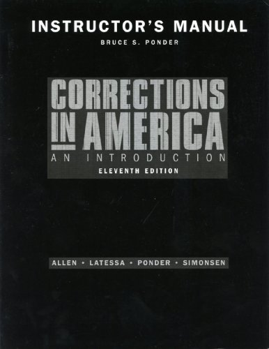 9780131950870: Corrections in America - Instructor's Manual
