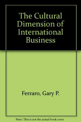 9780131951402: The Cultural Dimension of International Business (Literature; 41)