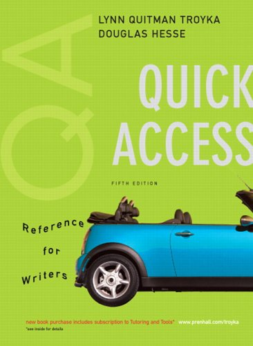 9780131952263: Quick Access, Reference for Writers (MyCompLab Series)