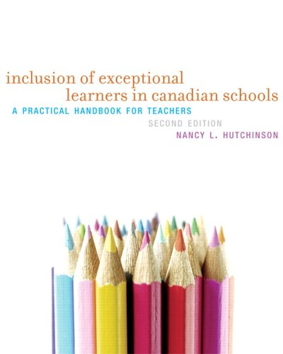 9780131955899: Inclusion Of Exceptional Learners In Canadian Schools: A Practical Handbook For Teachers
