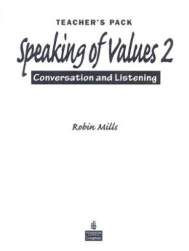 9780131956612: Speaking of Values 2 Teacher's Manual
