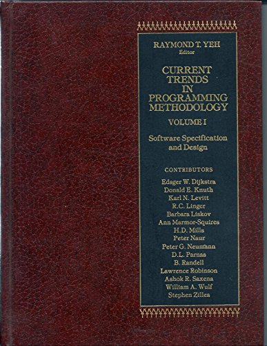 9780131957015: Current Trends in Programming Methodology, Vol. 1: Software Specification and Design