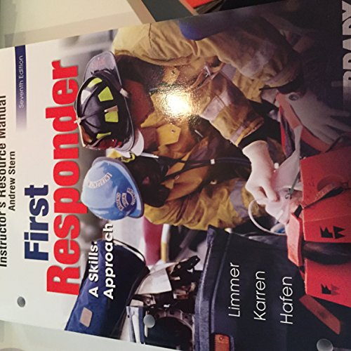 9780131958104: First Responder: A Skills Approach (Instructor's Resource Manual) w/CD-Rom
