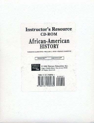 9780131958982: Instructor's Resource CD-ROM (African-American History)