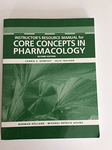 Instructors Resource Manual for Core Concepts in Pharmacology