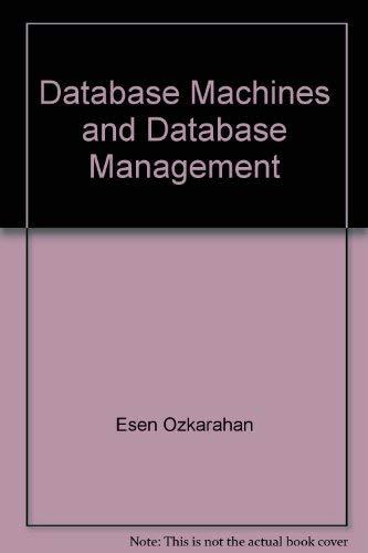 9780131960312: Database Machines and Database Management