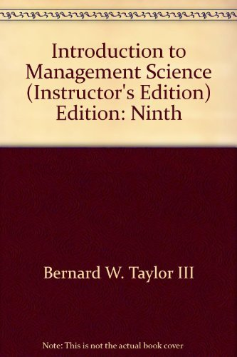 9780131961357: Introduction to Management Science Ninth Edition