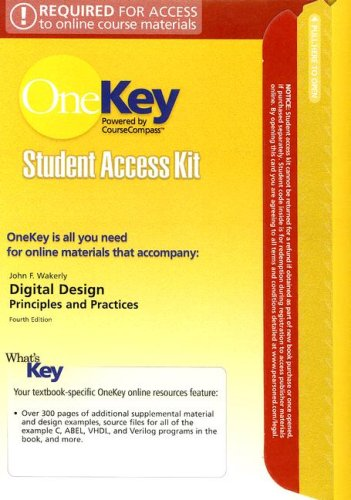 9780131962736: OneKey CourseCompass, Student Access Kit, Digital Design: Principles and Practices