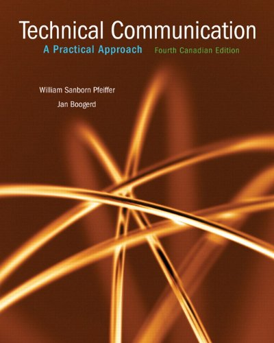 9780131962934: Technical Communication, Fourth Canadian Edition