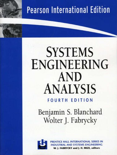 9780131963269: Systems Engineering and Analysis