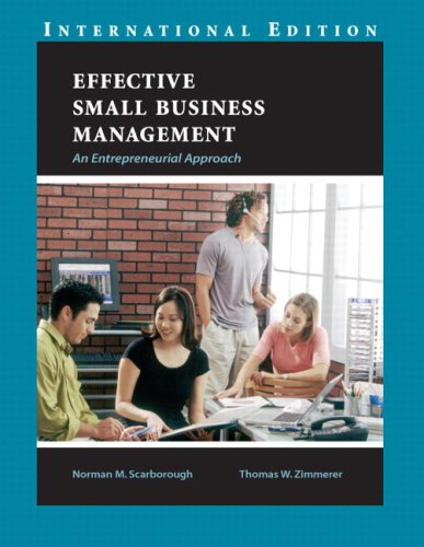 9780131968707: Effective Small Business Management: an Entrepreneurial Approach