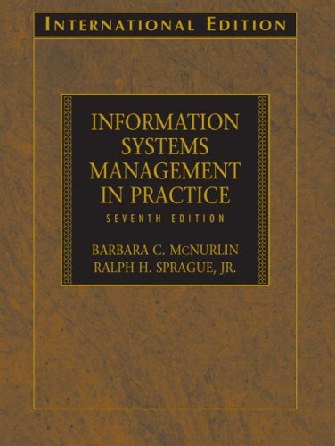 9780131968776: Information Systems Management in Practice: International Edition