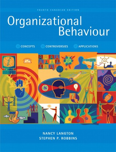 9780131971103: Organizational Behaviour: Concepts, Controversies, Applications, Fourth Canadian Edition